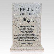 Poem Stone Pet Urn