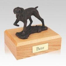 Pointer Bronze Large Dog Urn