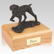Pointer Bronze Dog Urns