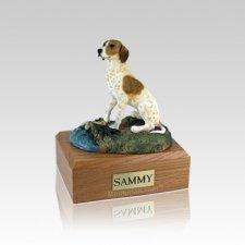 Pointer Brown & White Small Dog Urn