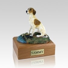 Pointer Brown & White Dog Urns