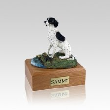 Pointer Sitting Small Dog Urn