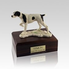 Pointer Small Dog Urn