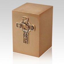 Policemans Cross Bronze Cremation Urn