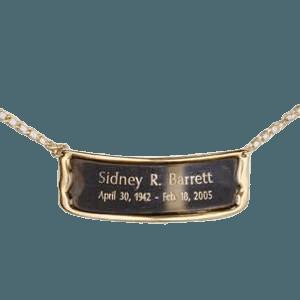 Polished Brass Urn Plaque