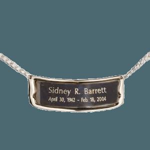 Polished Silver Urn Plaque