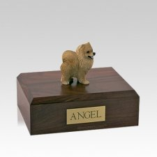 Pomeranian Red Medium Dog Urn