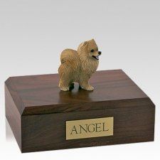Pomeranian Red X Large Dog Urn