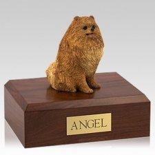 Pomeranian Sitting Dog Urns