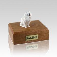 Pomeranian White Medium Dog Urn