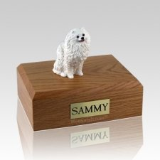 Pomeranian White Dog Urns