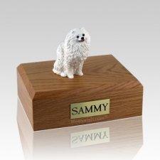 Pomeranian White X Large Dog Urn