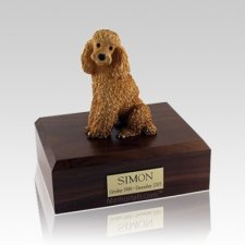 Poodle Apricot Sitting Medium Dog Urn