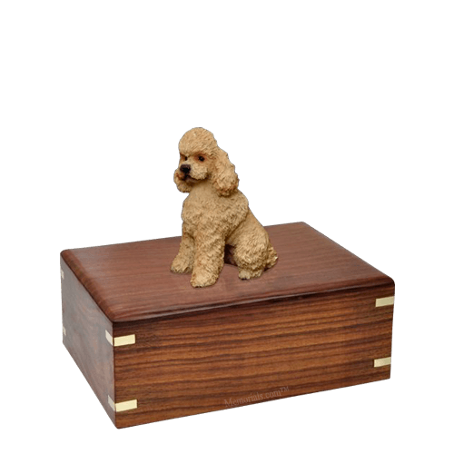 Poodle Apricot Sport Cut Small Doggy Urn