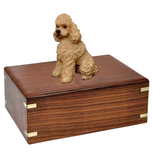 Poodle Apricot Sport Cut Doggy Urns
