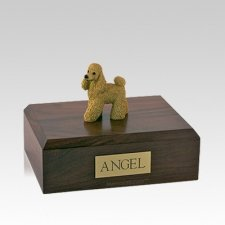 Poodle Apricot Standing Medium Dog Urn