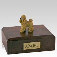 Poodle Apricot Standing Dog Urns