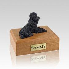 Poodle Black Medium Dog Urn