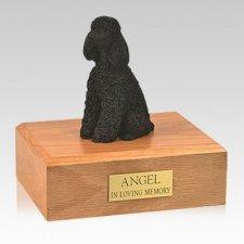 Poodle Black Resting Large Dog Urn