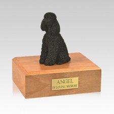 Poodle Black Resting Medium Dog Urn
