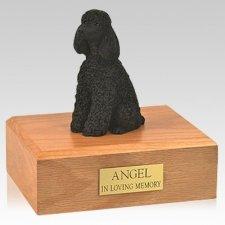 Poodle Black Resting X Large Dog Urn