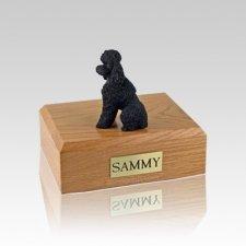 Poodle Black Sport Cut Small Dog Urn
