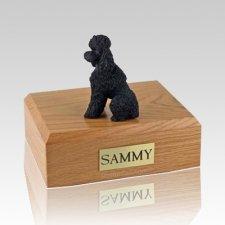 Poodle Black Sport Cut Dog Urns