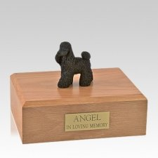 Poodle Black Standing Large Dog Urn