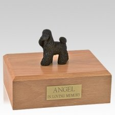 Poodle Black Standing X Large Dog Urn