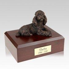 Poodle Bronze Large Dog Urn