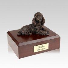 Poodle Bronze Medium Dog Urn