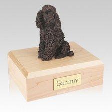 Poodle Bronze Sitting Large Dog Urn