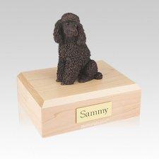 Poodle Bronze Sitting Medium Dog Urn