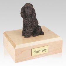 Poodle Bronze Sitting X Large Dog Urn