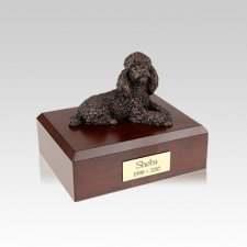 Poodle Bronze Small Dog Urn