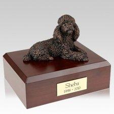 Poodle Bronze X Large Dog Urn