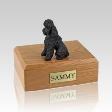 Poodle Chocolate Sport Cut Large Dog Urn