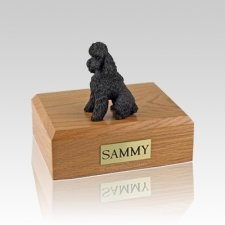 Poodle Chocolate Sport Cut Medium Dog Urn