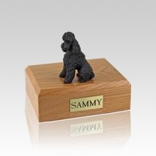 Poodle Chocolate Sport Cut Small Dog Urn