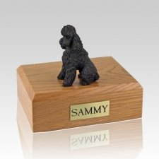 Poodle Chocolate Sport Cut X Large Dog Urn