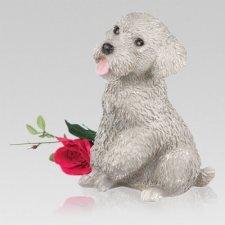 Gray Poodle Cremation Urn