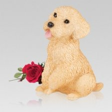 Gold Poodle Cremation Urn