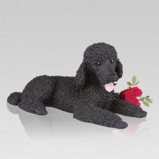 Black Poodle Dog Urn