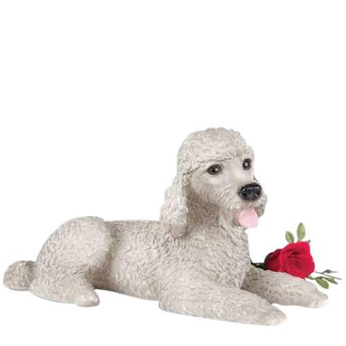 Gray Poodle Dog Urn