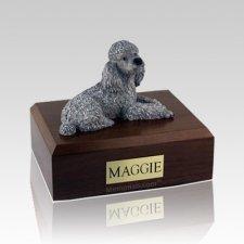 Poodle Gray Large Dog Urn