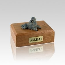 Poodle Gray Show Cut Small Dog Urn