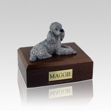 Poodle Gray Small Dog Urn