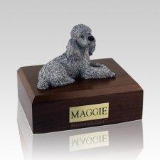 Poodle Gray X Large Dog Urn