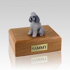 Poodle Grey Sport Cut Large Dog Urn