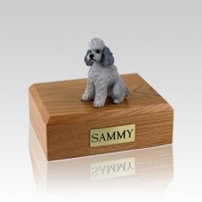 Poodle Grey Sport Cut Medium Dog Urn